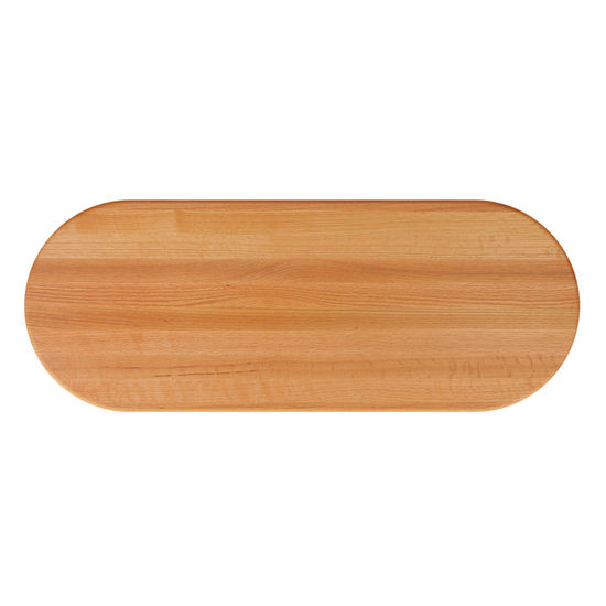 Red Oak Oval Butcher Block Table Tops