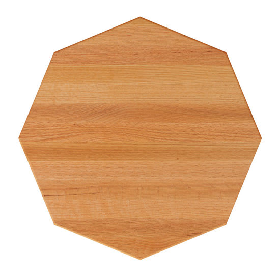 Red Oak Octagonal Butcher Block Table Tops
