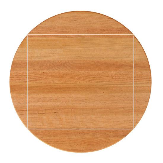 Red Oak Drop Leaf Butcher Block Table Top by John Boos