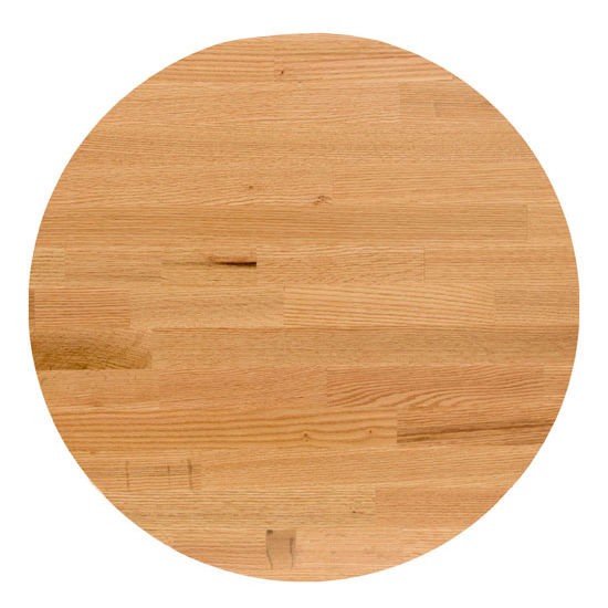 John Boos Oak Blended Butcher Block Table Top, Round