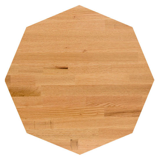 John Boos Oak Blended Butcher Block Table Top, Octagonal
