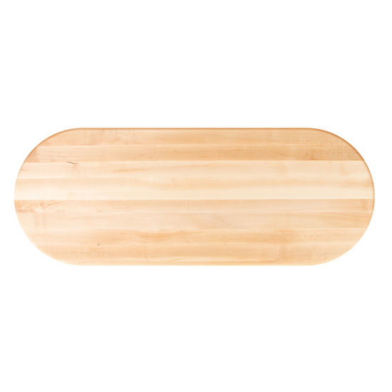 John Boos Soft Maple Butcher Block Table Top, Oval