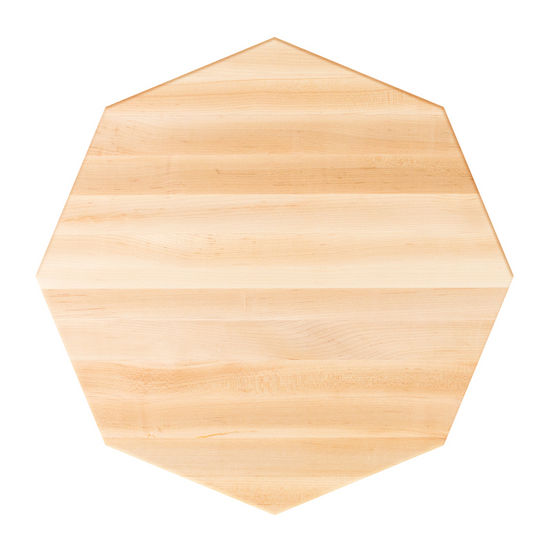 Octagonal Soft Maple Butcher Block Table Top With Full