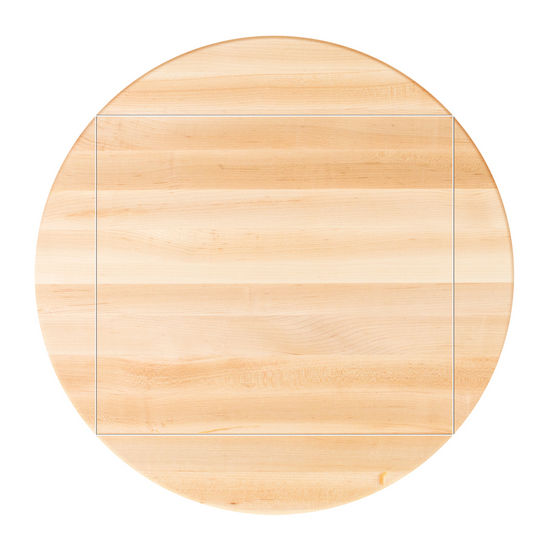 John Boos Soft Maple Butcher Block Table Top, Four Corner Drop Leaf