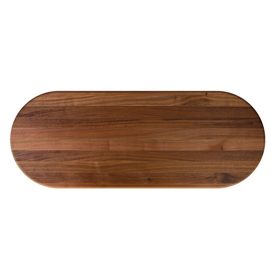 John Boos Walnut Butcher Block Table Top, Oval