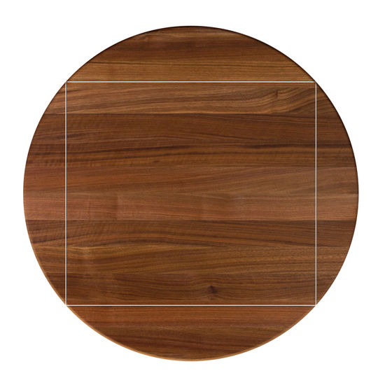 John Boos Walnut Butcher Block Table Top, Four Corner Drop Leaf