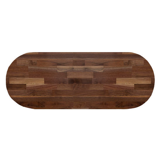 John Boos Walnut Blended Butcher Block Table Top, Oval