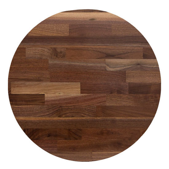 John Boos Blended American Black Walnut Round Top
