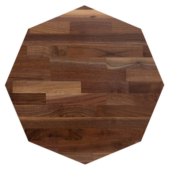 John Boos Walnut Blended Butcher Block Table Top, Octagonal
