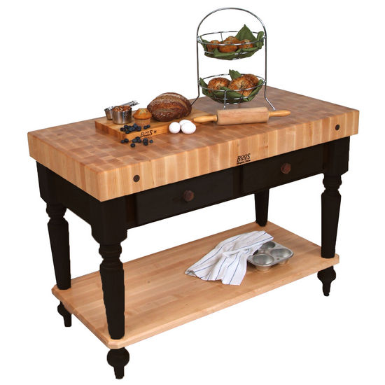 John Boos Kitchen Island Work Tables Cucina Rustica Kitchen - Wood top kitchen work table