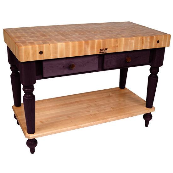 "John Boos Kitchen Work Tables 48"" Cucina Rustica Kitchen"