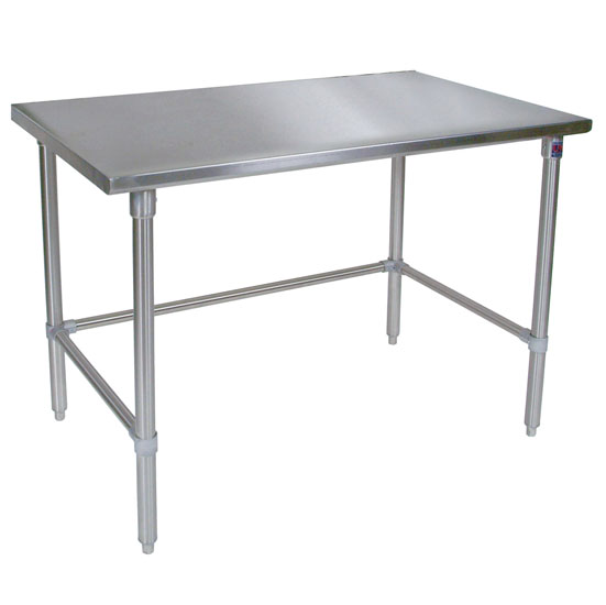 Metal work table john boos 16 gauge work tables w stainless steel stainless steel work table kitchen islands by john boos workwithnaturefo