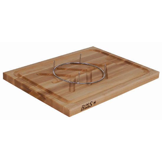 Slicer Cutting Board w/ Groove, Tree and Pins