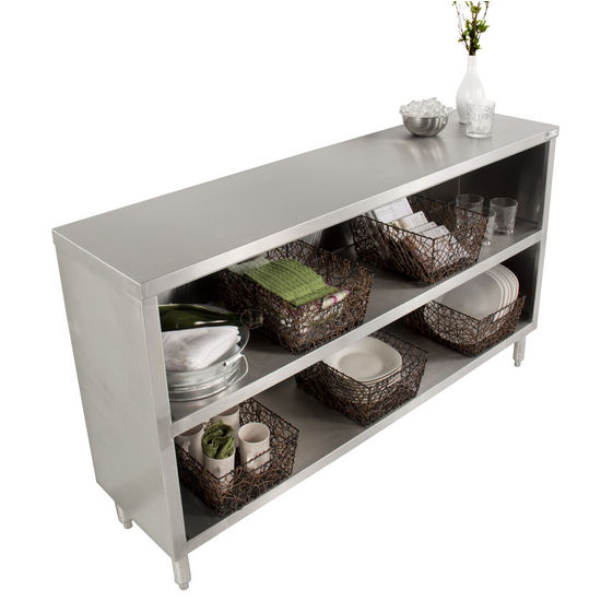 John Boos Urban Industrial Buffet Cabinet Stainless Steel