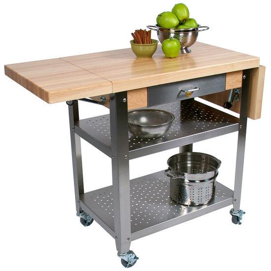 John Boos Cucina Elegante Kitchen Carts With 1 3 4 39 39 Thick