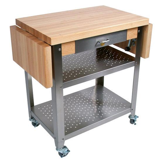 John Boos Cucina Elegante Kitchen Carts With 1 3 4 Thick