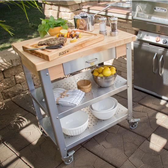 Cucina Elegante Maple Top Kitchen Cart By John Boos
