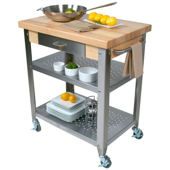 Commercial Kitchen Island: John Boos Cucina Elegante Kitchen Carts With 1-3/4'' Thick