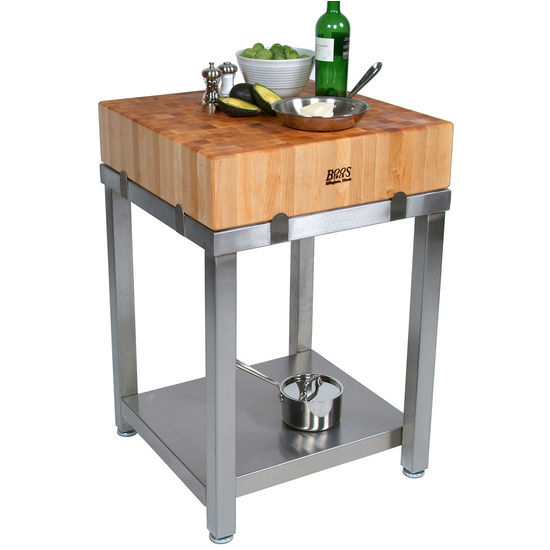 John Boos Cucina Laforza Butcher Block Kitchen Carts