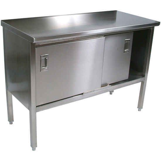 Cucina Marcella Stainless Steel Work Table with Cabinet by John Boos