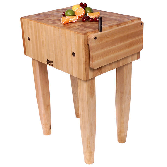 John Boos PCA Butcher Block with Knife Holders KitchenSource.com