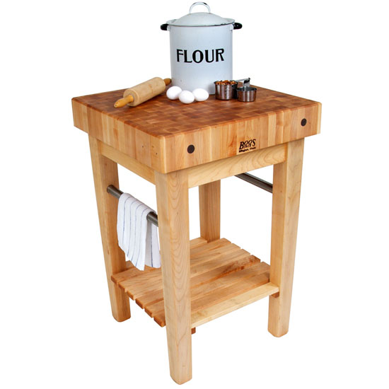 John Boos Butcher Block Carts with Pot Racks: Pro Prep Blocks