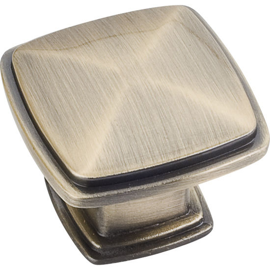 Jeffrey Alexander Milan 1 Collection 1-3/16'' W Plain Square Cabinet Knob in Brushed Antique Brass
