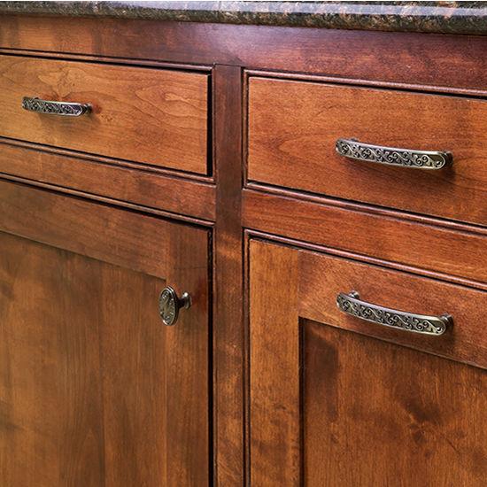 "Jeffrey Alexander Symphony Collection 1-3/8"" Diameter Art Deco Round Cabinet Knob"