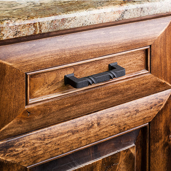 Tahoe Collection Rustic Cabinet Pull 4-1/2'', 5-13/16'' or 12-3/4 ...