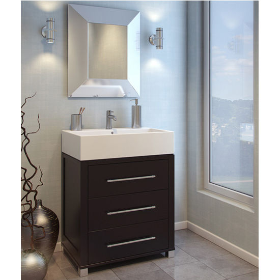 jeffrey alexander briggs bathroom vanity with porcelain top and bowl espresso finish