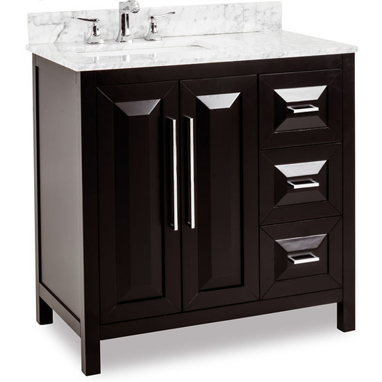 Bathroom Vanity With Bowl On Top : Bathroom Vanity with Carerra White Marble Top and Porcelain Bowl ...