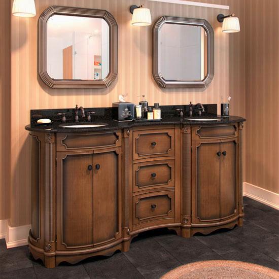 Jeffrey Alexander Tesla Bath Elements Vanity with Granite Top & Sink, Walnut Painted