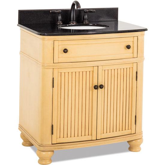 Jeffrey Alexander Compton Bath Elements Vanity with Granite Top & Sink, Buttercream Painted