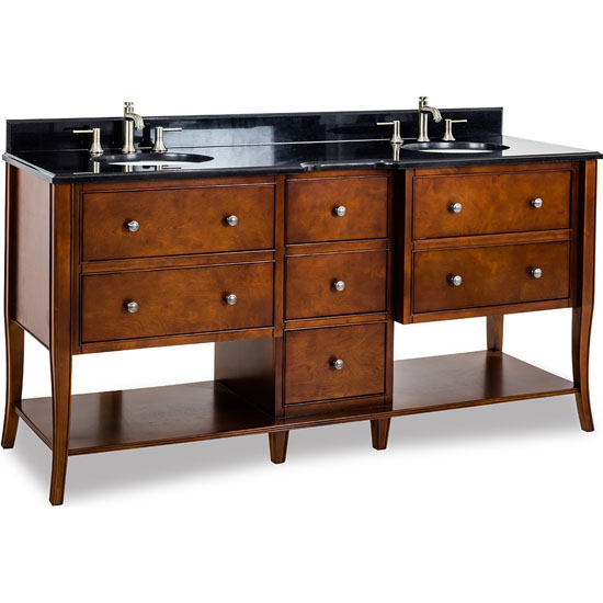 bathroom vanity with granite top porcelain sink chocolate 72 39