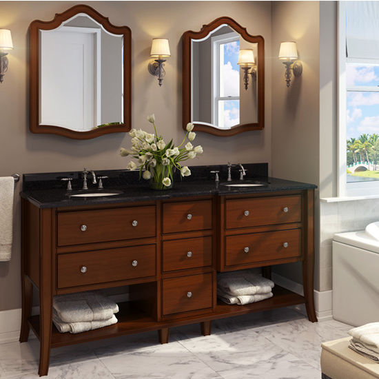 Jeffrey alexander philadelphia refined bathroom vanity with granite top porcelain sink for Bathroom vanities philadelphia