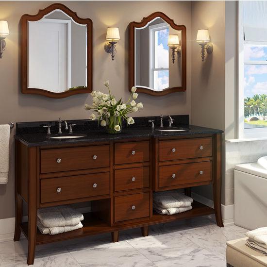 Jeffrey Alexander Philadelphia Refined Vanity with Granite Top & Sink, Chocolate