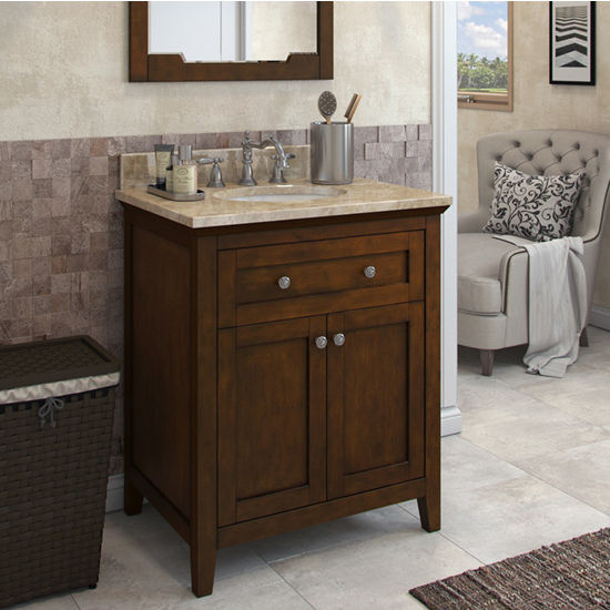 Jeffrey Alexander Chatham Shaker Vanity with Marble Top & Sink