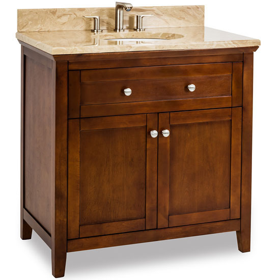 Jeffrey alexander chatham shaker bathroom vanity with - Jeffrey alexander bathroom vanities ...