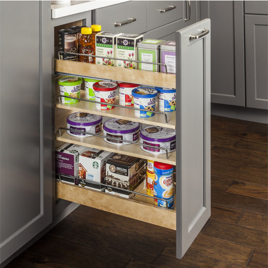 """Base Cabinet Pullout, Soft-close undermount slides on the bottom and Patent-pending top mounting bracket with heavy duty slide on the top, 11-1/2""""W x 22""""D x 24""""H"""