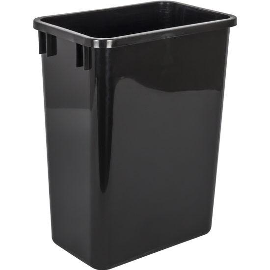 "Waste Container, 35 Quart (8.75 Gallon), Black, 9-7/16""W x 14-1/2""D x 18""H"