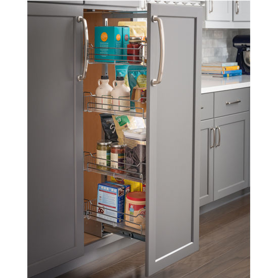 Soft Close Wire Pantry Pullout With Heavy Duty Slides Measuring 9 7 8 W 17 1 2 W X 19 1 4 D