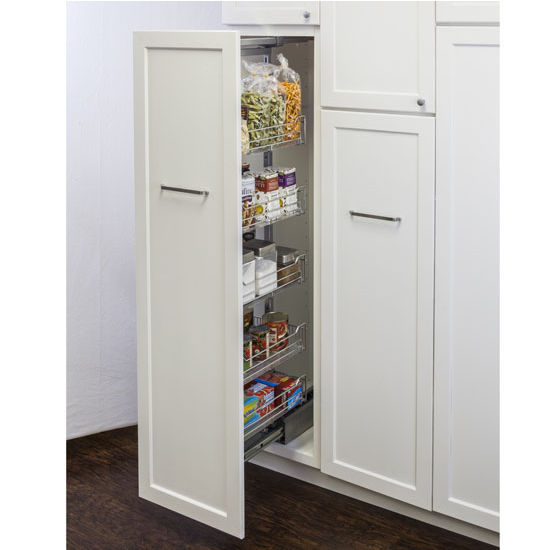 Soft Close Wire Pantry Pullout With Heavy Duty Slides