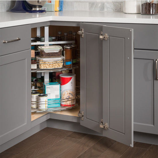 Kitchen Cabinet Financing: Adjustable Height Easy 360 Susan Chrome Wire Corner