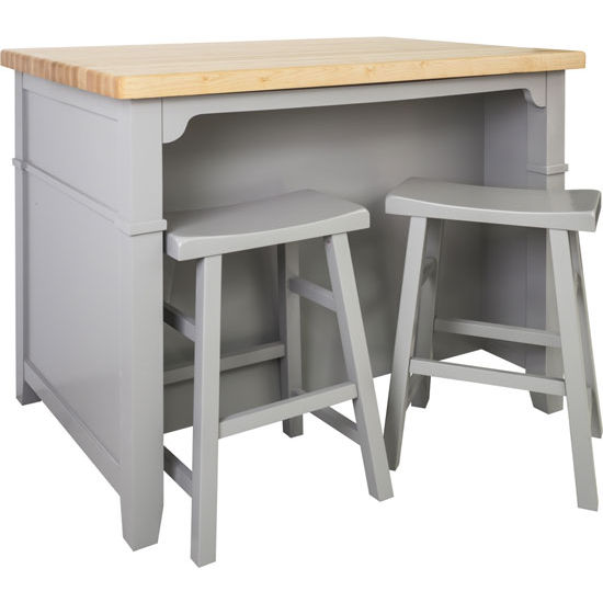 Jeffrey Alexander Isl Gry St Conversation Kitchen Island Grey