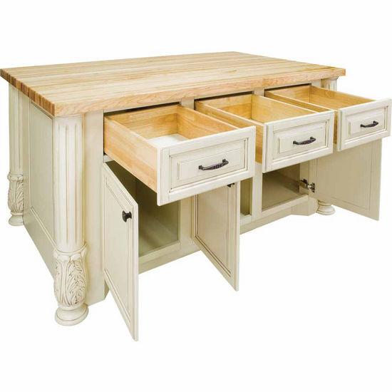 Jeffrey Alexander Milanese Kitchen Island With Hard Maple