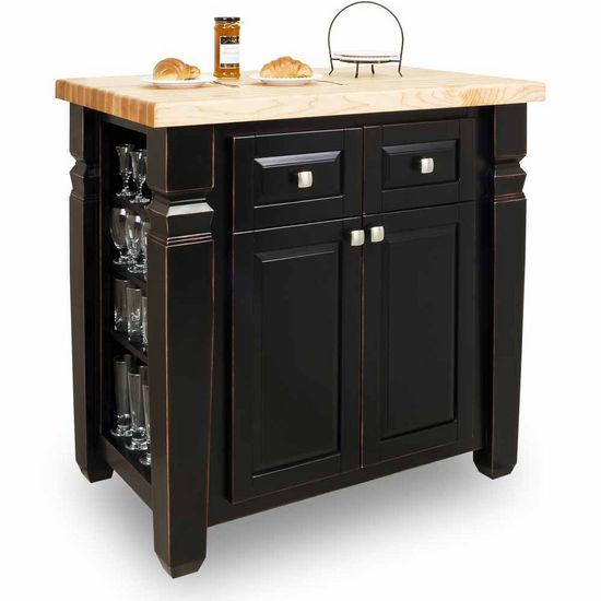 jeffrey alexander loft kitchen island with hard maple edge