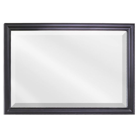 Douglas Mirror With Beveled Glass Painted Black Or White By Jeffrey Alexander Measuring 42 W X