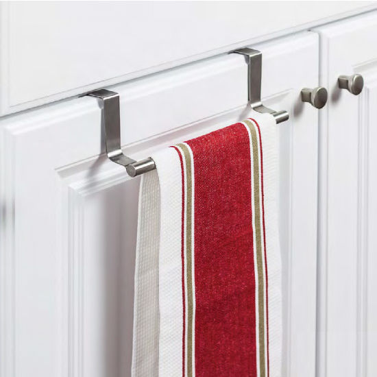 """Over-the-Door Towel Bar, Stainless Steel finish, 9-3/4""""W x 2-3/8""""D x 2-13/16""""H"""