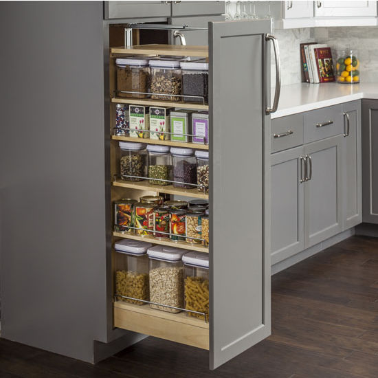 "Wood Pantry Cabinet Pullout, with Heavy-Duty 400lb Ball Bearing Slides, 11-1/2""W x 22-1/2""D x 46"" - 49""H"