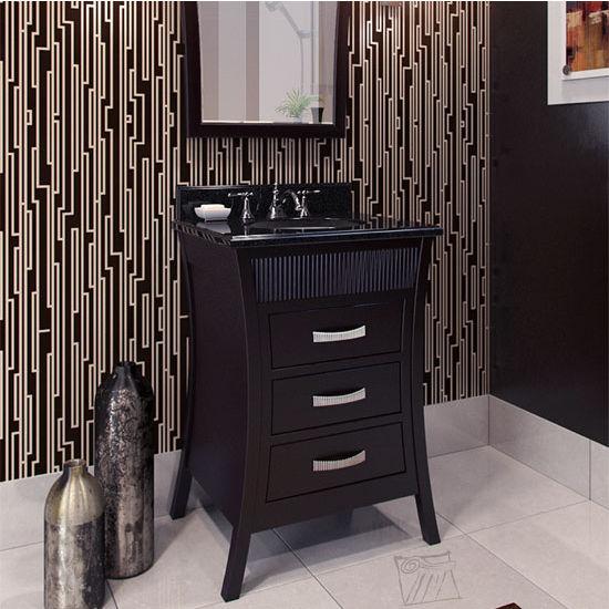 Jeffrey Alexander Barcelona Modern Black Bathroom Vanity With Granite Top Sink